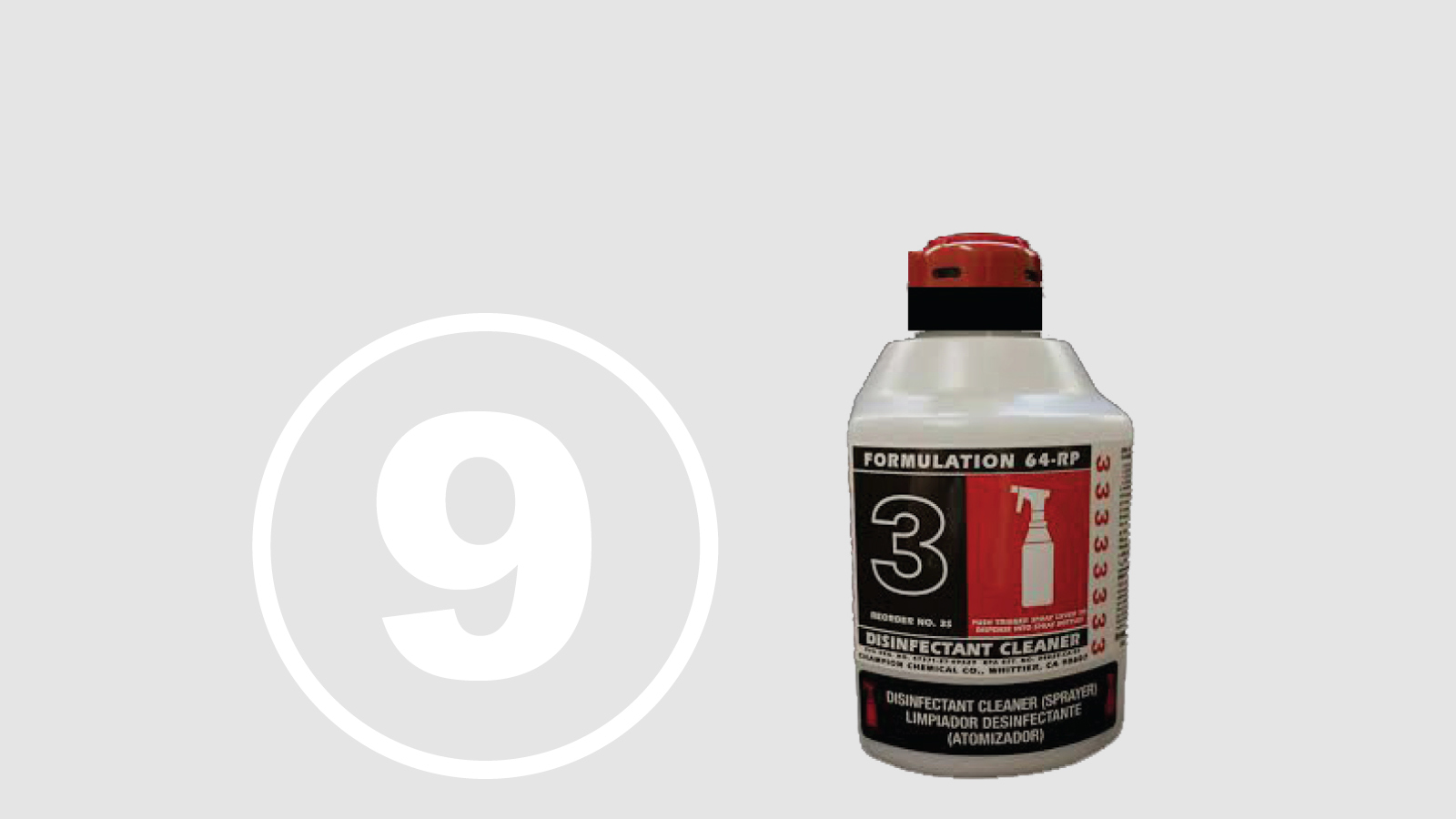 """<h5>Top Ten Most Hazardous Products</h5><h4>Formulation 64-RP</h4><p>An industrial cleaner/disinfectant used by custodians, firefighters and others.<br />We found <span class=""""highlight"""">10 chemicals</span> chemicals linked to chronic health effects with <span class=""""highlight"""">70% hidden in """"fragrance.""""</span></p>"""